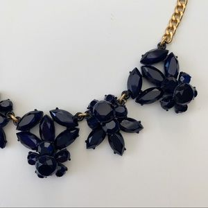 J CREW | Navy & Gold Crystal Statement Necklace